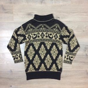 popular brand reliable quality best authentic 80's Vintage Pierre CARDIN Gold LAME Sweater USA